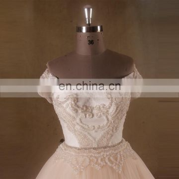 Enchanted Sweet Heart Neckline Cap Sleeve Brilliant Beading Bodice Ball Tulle Wedding Dress