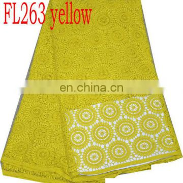 african french lace with sequins(FL263 yellow )