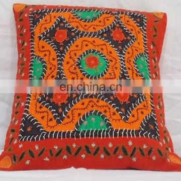Jaipuri Vintage Suzani Cushion Cover Embroidered Indian Pillow Case Indian Decor