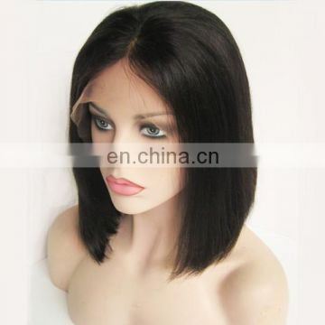 Wholesale popular 10 inch brazilian hair lace front wig bob style wig