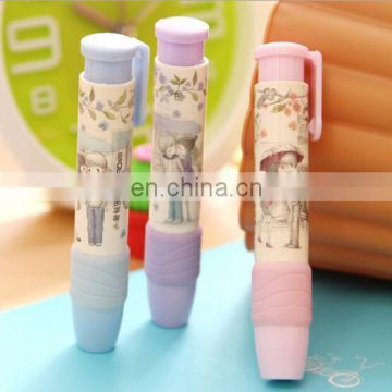 2016 newest style erasers Cartoon retractable erasers Changable refills erasers