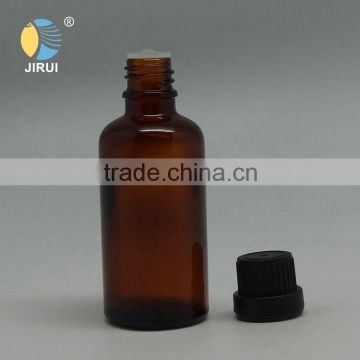 50ml amber essential oil glass bottle with black plastic cap                                                                                                         Supplier's Choice