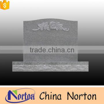 chinese granite stone gray granite tombstone for resell NTGT-003L