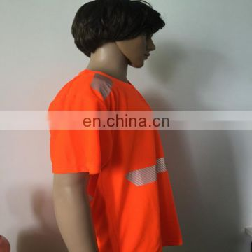 High visbility reflective breathable orange running T-shirt