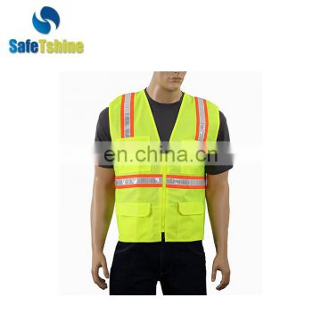 2017 The most durable china factory customed fluorescent breathable safety vest