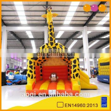 AOQI giraffe model games jumping bouncer, inflatable combo with slide