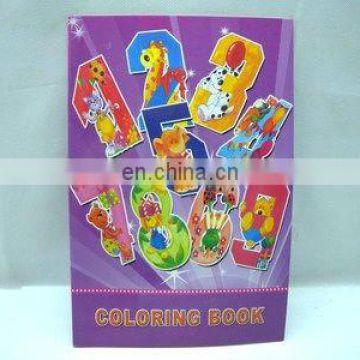 coloring book with sticker