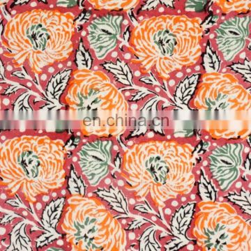 Cotton Hand Block Print Sewing Indian Fabric Material Cotton Print