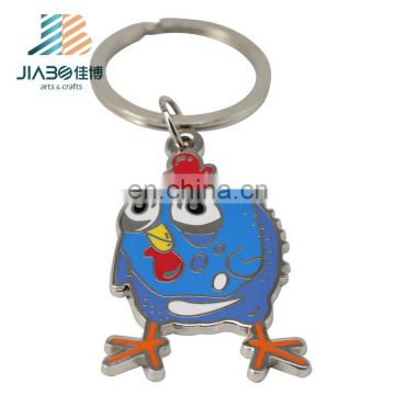custom design hard enamel birds logos shape Wholesale harm enamel keychain