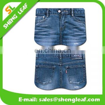 Wholesale mouse pad of fashion jeans shape