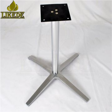 New metal cross table base aluminium table base legs for dining/patio/plywood/beer/letter/meeting/restaurant table