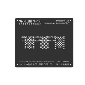 nandrepair Qianli Square Hole Black Stencil for All iPhone Series Hard Disk Module Reballing