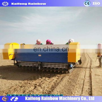 collection ditching soil applying fertilizer garlic seed planter