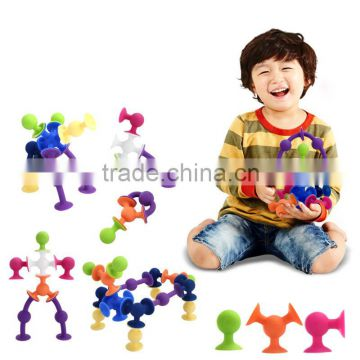 2016 DIY Building Toy Gift Silicone Building Blocks Kit