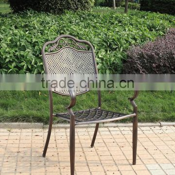 Cast Aluminum Dining Chair/patterned chair/cafe patio bistro chair aluminum