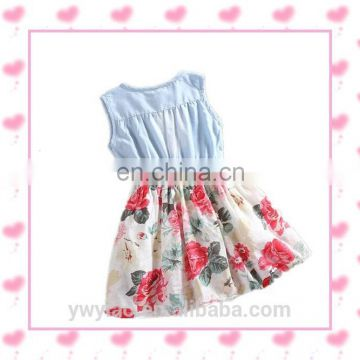 jeans skirt cute customized dseign little girl dress