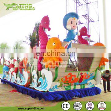 Colorful Parade Floats Fiberglass Vehcle Statue For Sale