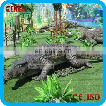 Zoo lifesize high simulation remote control crocodile