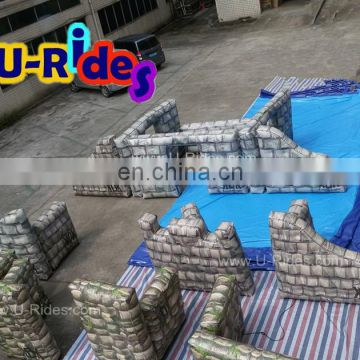 0.6mm pvc tarpaulin digital printing Inflatable paintball field for shooting game
