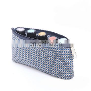 lady hotselling sublimation private label travel 5 vials essential oil makeup bag
