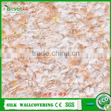 eco-friendly fiber decor wall coating silk plaster wall paper