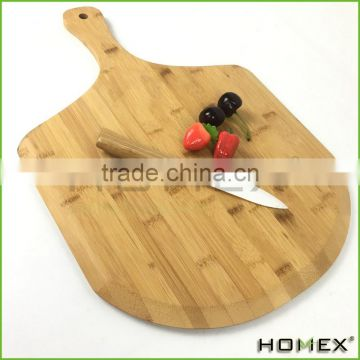 Paddle Shaped Bamboo Pizza Chopping Board Homex BSCI/Factory