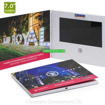 2019 Hot Selling Cheap Printing Custom Creative Colorful Video Brochure
