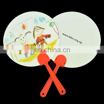 New custom made personalised paper fan with logo