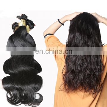Beauty 130% density virgin Brazilian natural hair extensions