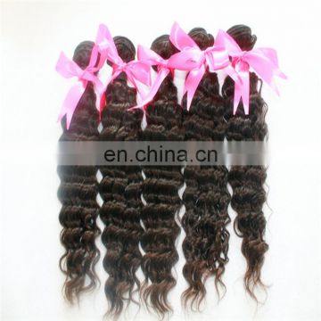 Factory wholesale price natural color vietnam hair top quality deep wave hair extension