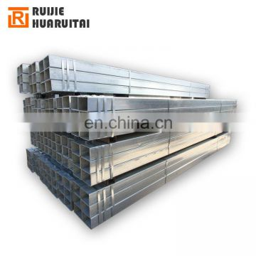 Galvanized square tube hollow section steel tube GI rectangular steel pipe/ gi tube 38x25mm
