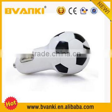 Hot sale new products mobile accessories mini brazil world cup unique of design football car charger