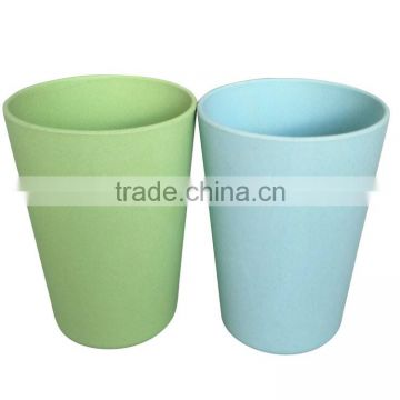 Eco Rice Husk Kids Mug Bamboo Fiber Reusable Colored Coffee Cup