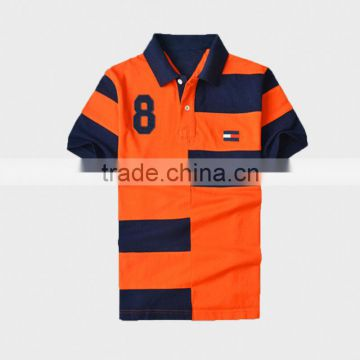 Fashion Design Two Tone pique Polo Shirt for Men