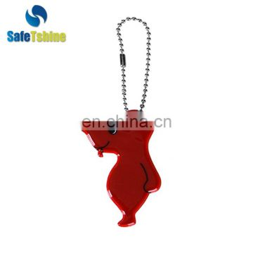 Wholesale new design nice-looking reflective custom key chain