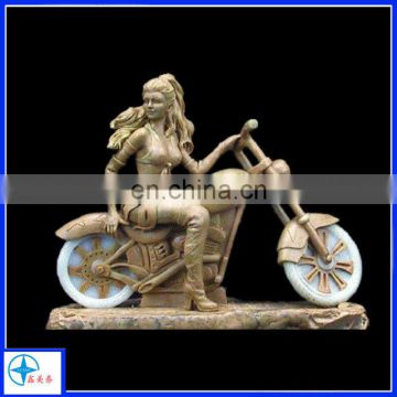 resin sexy girl figurine riding motorcycle