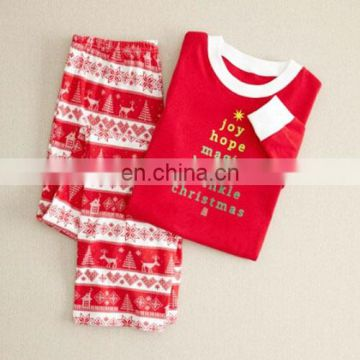 ornaments Christmas Family Matching Letters Printing Cotton Sleepwear clothing christmas decoration 2017