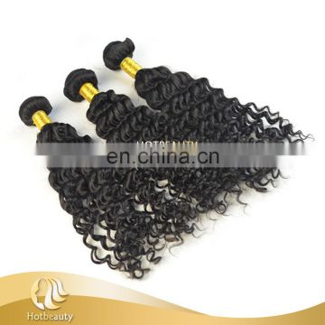 Natural color 1#,1b#,2#,4# Deep Wave Brazilian Curly Hair Wholesale Hot Beauty