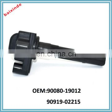 Hot sales ignition coil OEM 90080-19012 90919-02215 Avalon Camry Lexus ES300 3.0L V6 1MZFE Ignition Coil