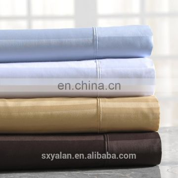2017 100% cotton hotel linen Stripe flat sheet