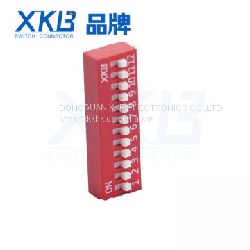 Factory direct DA12 12 bit side dial 90 degrees dip switch
