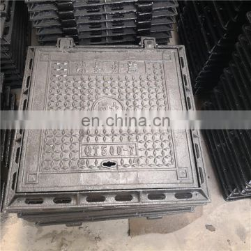EN124 700X700mm ductile iron square medium duty manhole cover