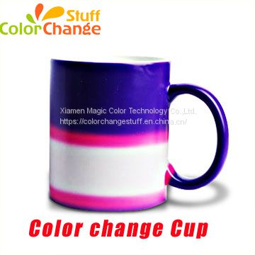 Heat Sensitive Colour Changed  Ceramic Mug