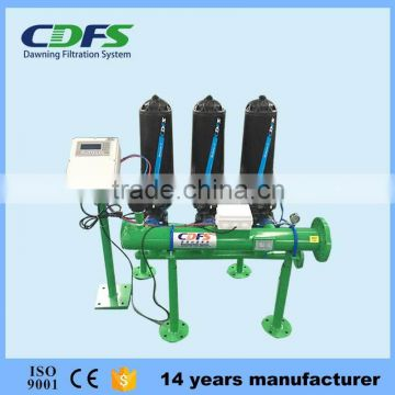 100 micron 300m3/h disc filter automatic backwash water filter of