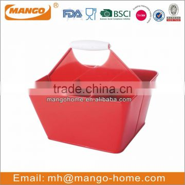 Galvanized steel metal rectangle food serving tray