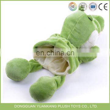 Cartoon animal plush crocodile hand puppet for adult