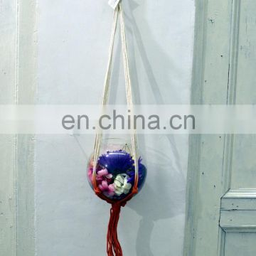 macrame plant hanger rope plant hangers rope 4 legs plant hanger at very best price
