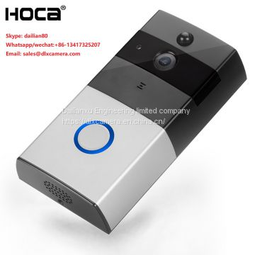 Hotsale Megapixel 720P WIFI Smart Doorbell with indoor ring support 32G SD remote watch by APP of mobile two ways voice