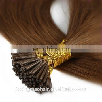 Russian pre bonded hair extension 1 gram 2g strands i tip curly hair extensions wholesale 100 keratin tip human hair extension