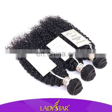 Wholesale price ladystar skilky kinky curl tangle free hair all size 100 human hair, hot selling peruvian hair